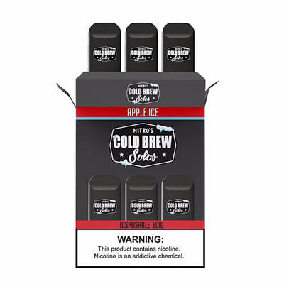Nitro's Cold Brew Solos - Disposable Device - Apple Ice-Hardware-Nitro's Cold Brew-3 Pack-50mg-eJuices.com