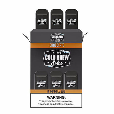 Nitro's Cold Brew Solos - Disposable Device - Chocolate-Hardware-Nitro's Cold Brew-3 Pack-50mg-eJuices.com
