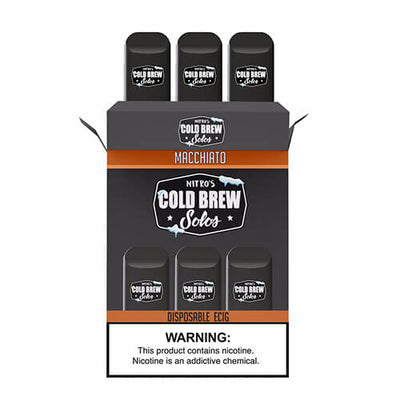 Nitro's Cold Brew Solos - Disposable Device - Macchiato-Hardware-Nitro's Cold Brew-3 Pack-50mg-eJuices.com