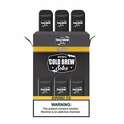 Nitro's Cold Brew Solos - Disposable Device - Mango-Hardware-Nitro's Cold Brew-3 Pack-50mg-eJuices.com