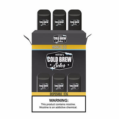 Nitro's Cold Brew Solos - Disposable Device - Mango Ice-Hardware-Nitro's Cold Brew-3 Pack-50mg-eJuices.com