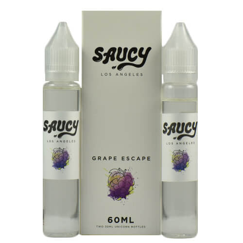 Saucy eLiquid - Grape Escape - 2x30ml / 0mg