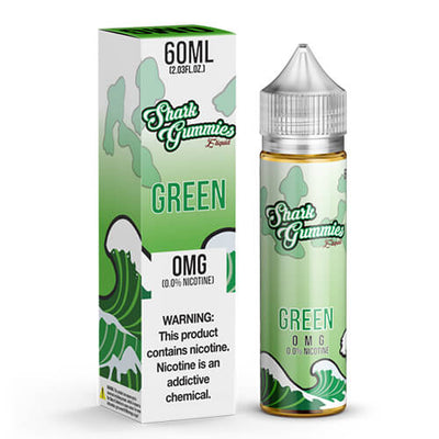 Shark Gummies E-Liquid - Green-eJuice-Shark Gummies-60ml-0mg-eJuices.com