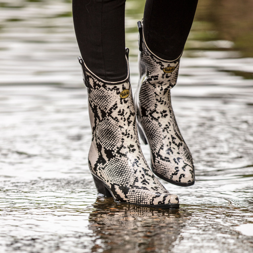 Bandy Snake snakeskin cowboy boot wellies - Talolo Boots