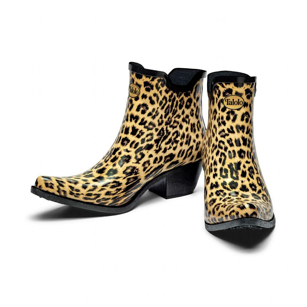 Ankle leopard print cowboy boot wellies