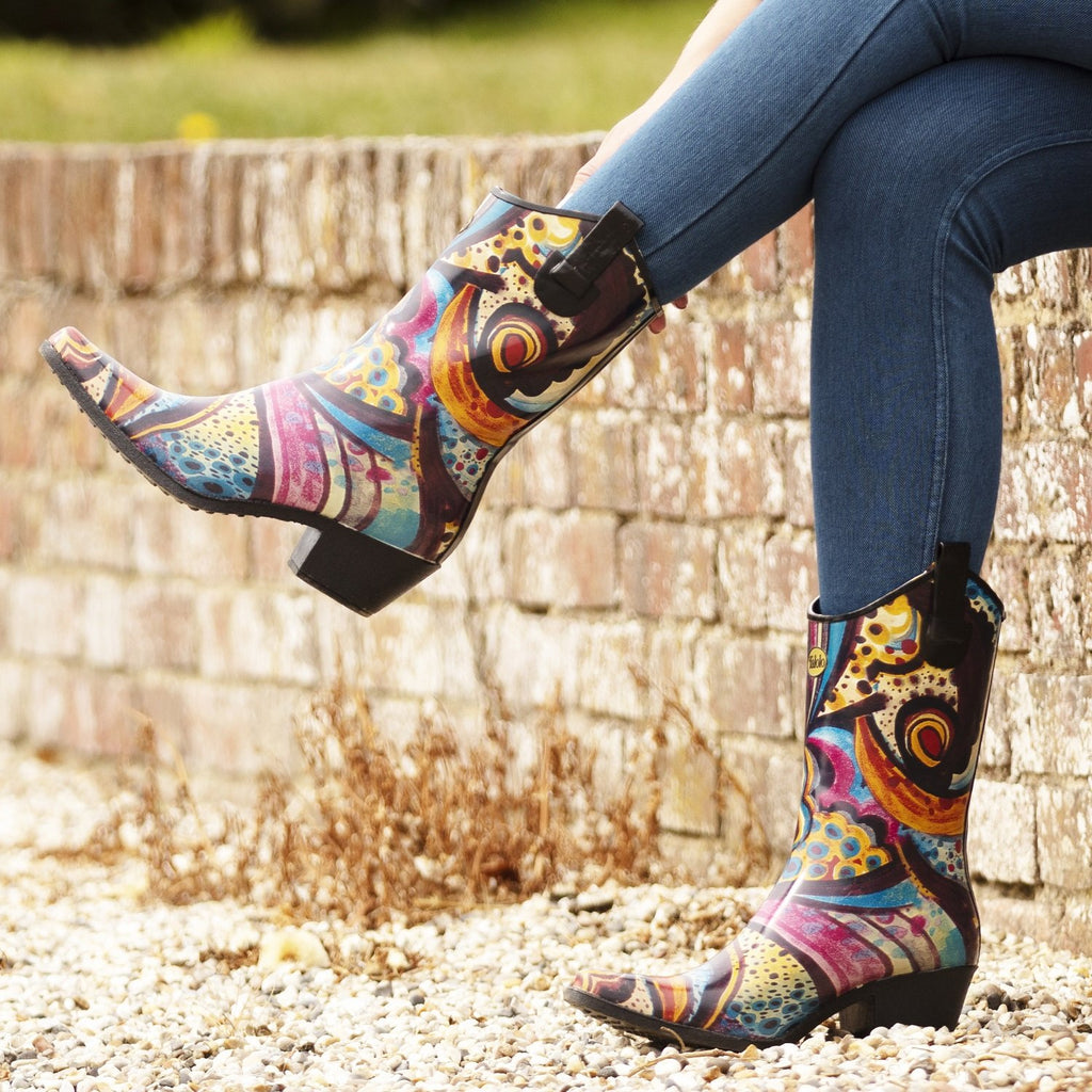 Floral Bliss floral cowboy boot wellies - Talolo Boots