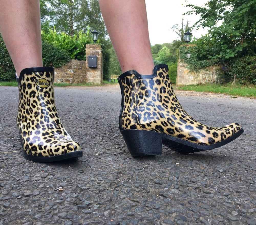 Leopard Spot ankle cowboy boot wellies - Talolo Boots