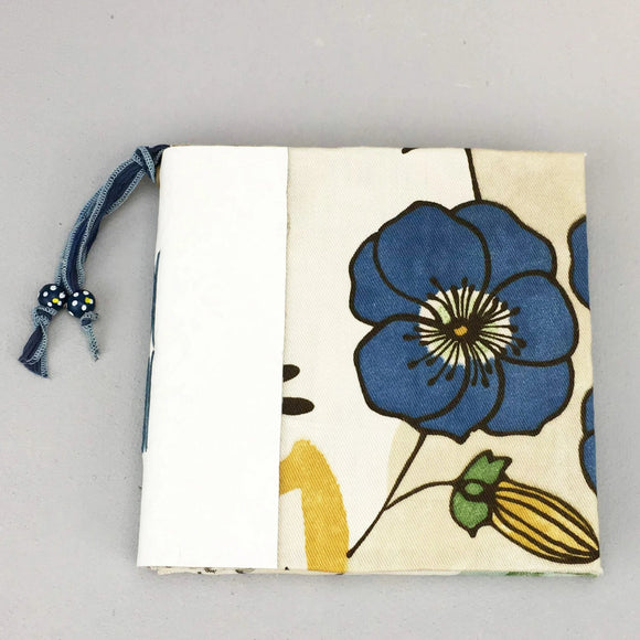 Handmade Mixed Media Journal - Blue Floral