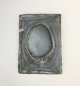 Metal Journal Cover, Unfinished, Oval Frame I