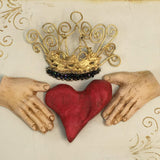 Mixed Media Claddagh I