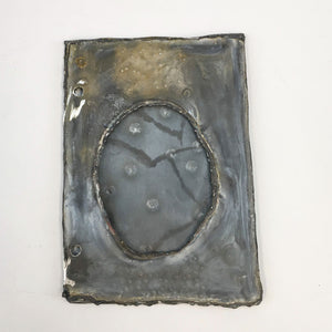 Metal Journal Cover, Unfinished, Oval Frame II