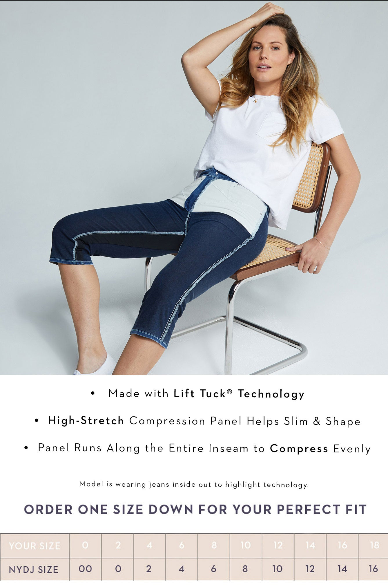Look for the X, Lift Tuck Technology