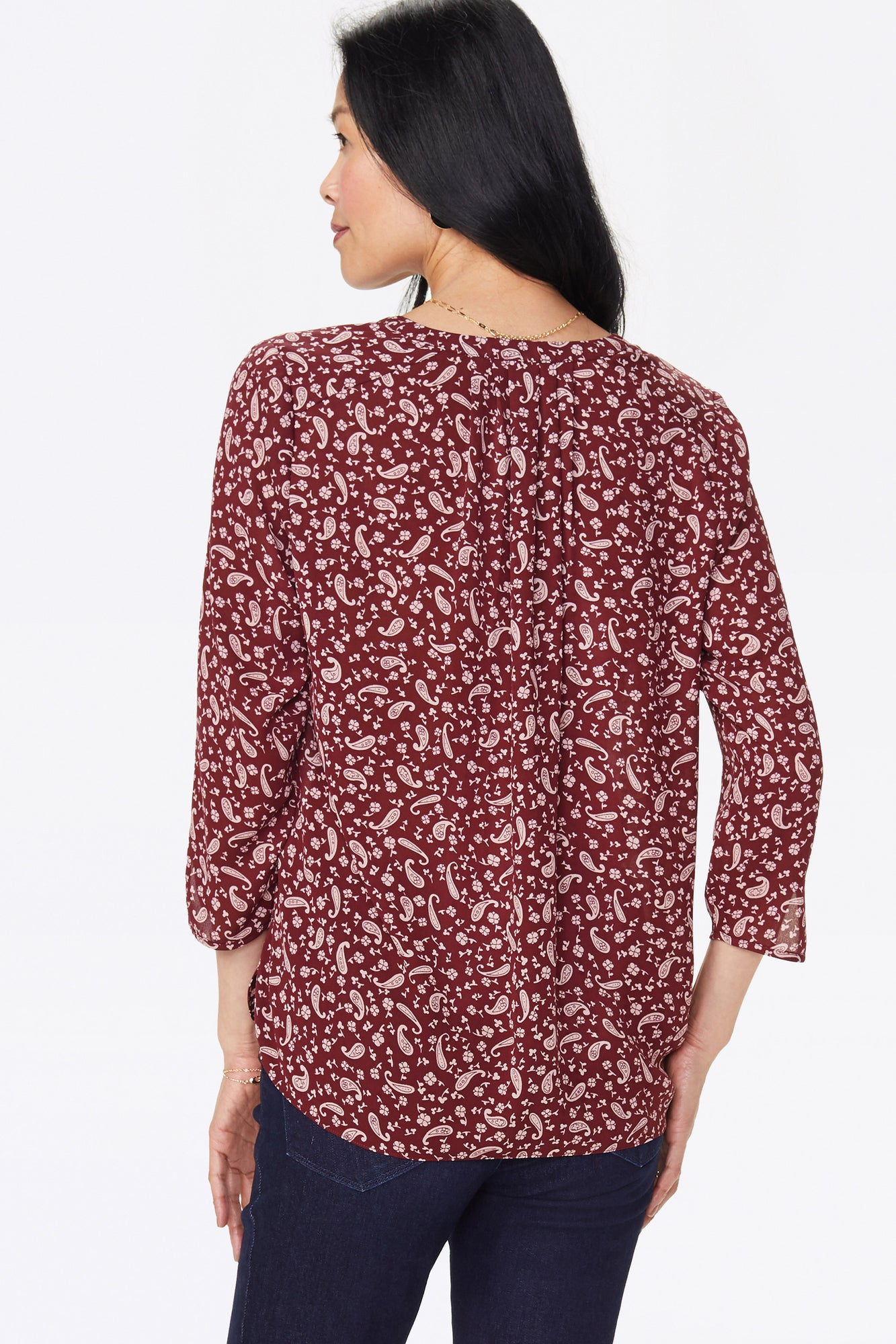 The Perfect Blouse - CHOCOLATE PAISLEY
