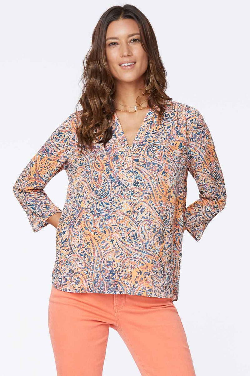 The Perfect Blouse - PINK ASHBURY PAISLEY