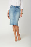 5 Pocket Knee-Length Skirt - BISCAYNE