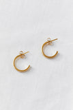 Ellsworth Small Hoop Earrings - BRASS