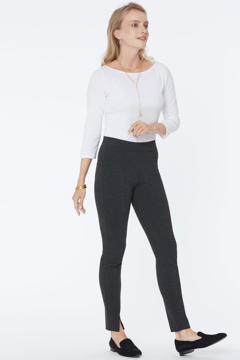 Basic Legging Pants - CHARCOAL HEATHERED