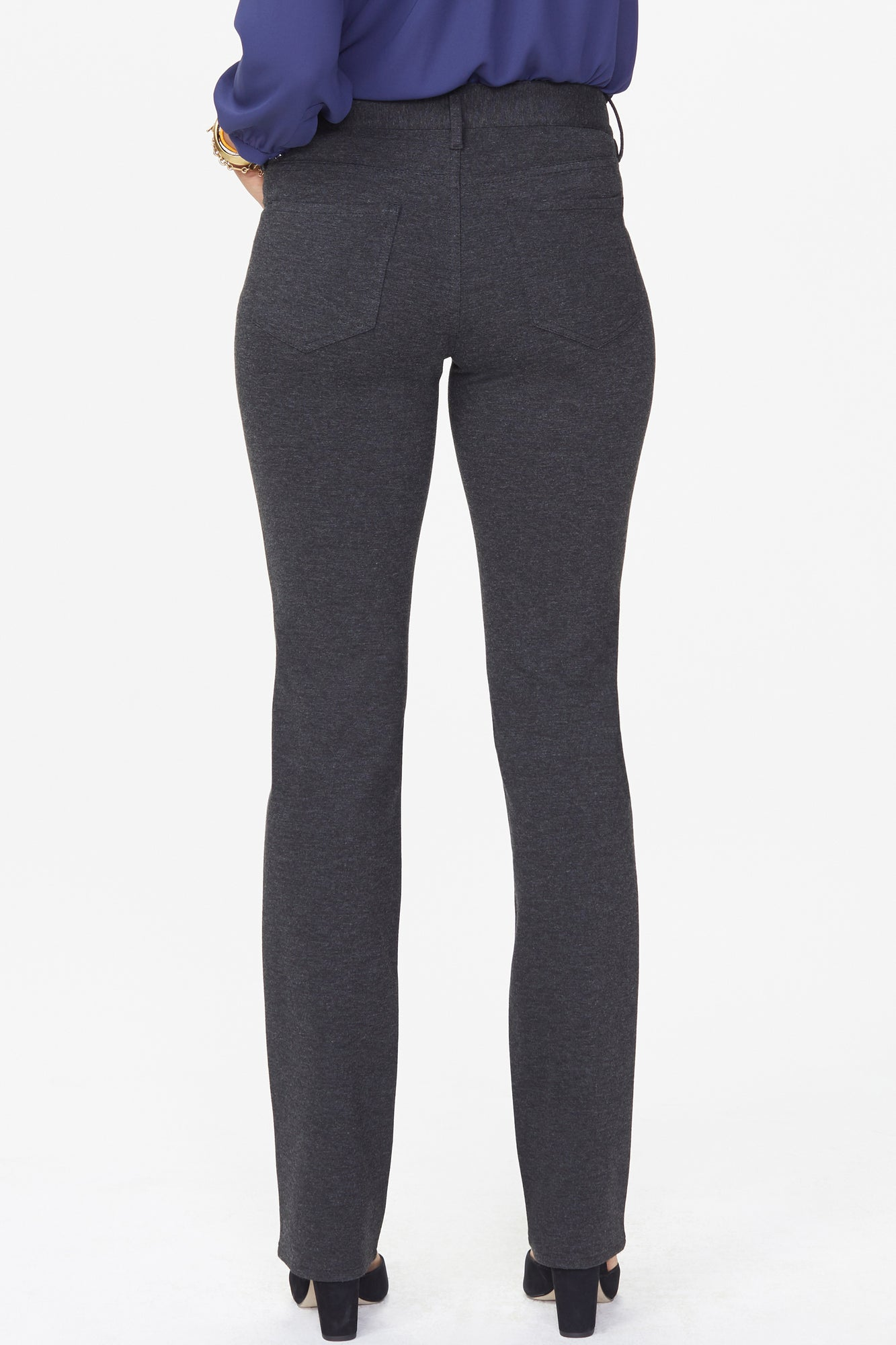 Marilyn Straight Pants - CHARCOAL HEATHERED