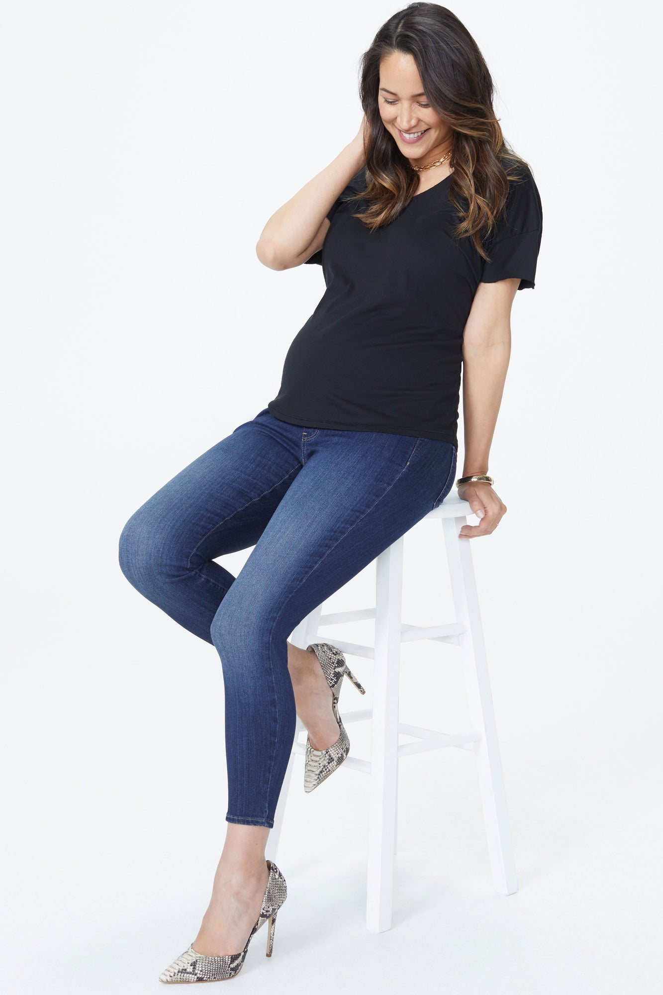 Ami Skinny Ankle Maternity Jeans - BIG SUR