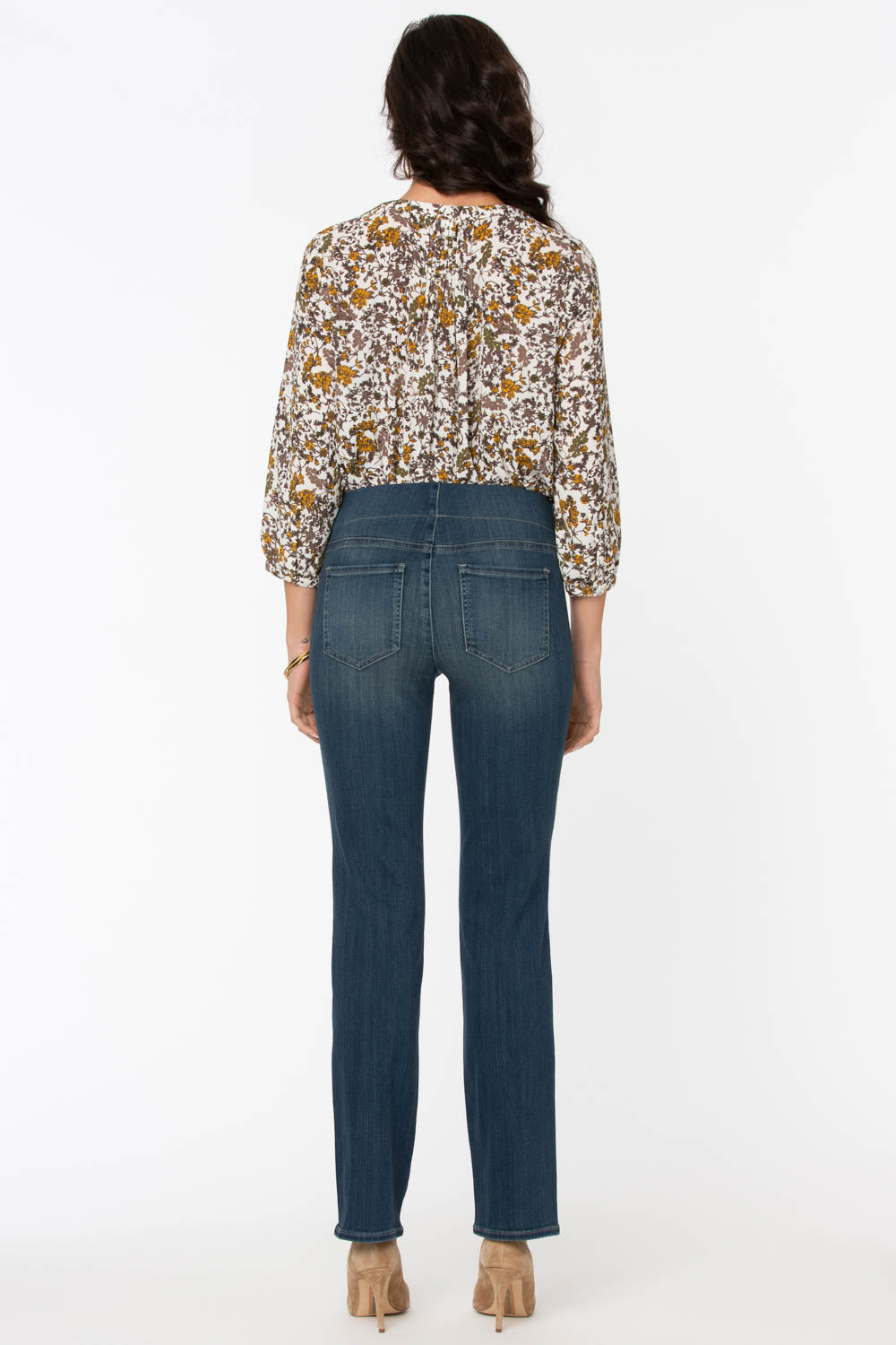 Marilyn Straight Pull-On Jeans - CLEAN BALANCE