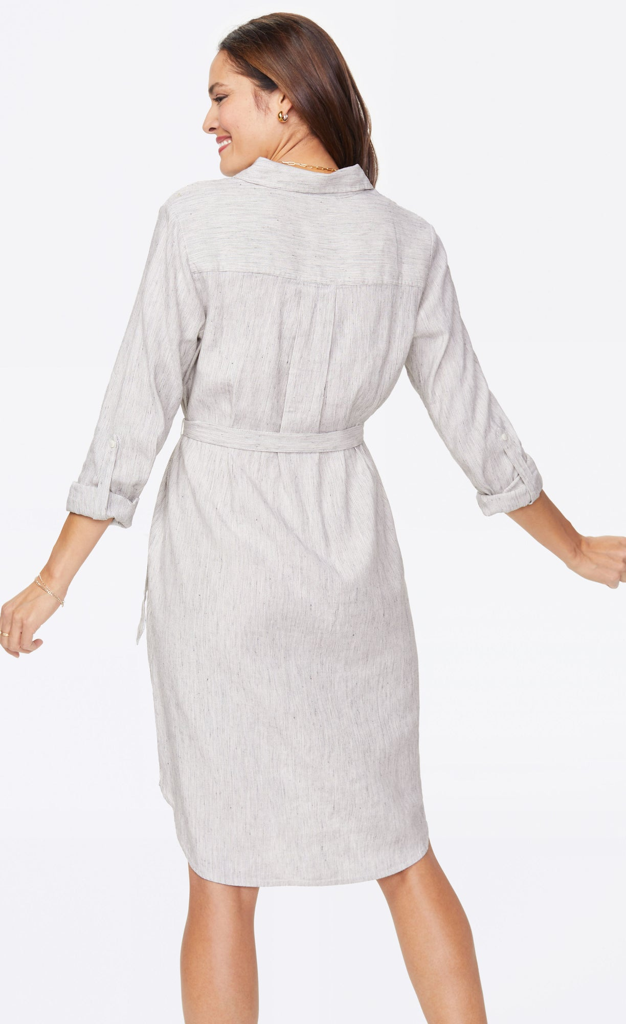 Shirt Dress - SLUBBY STRIPE