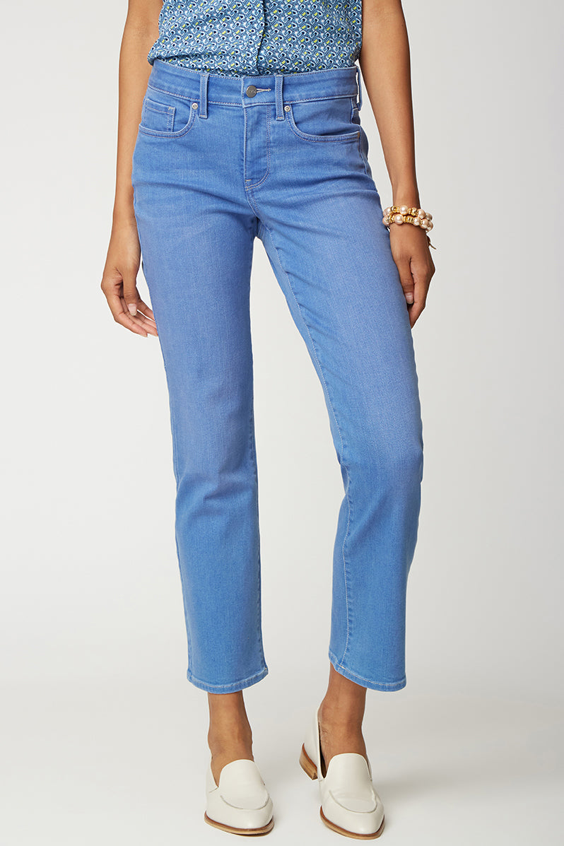 Marilyn Straight Ankle Jeans - EDGEWATER