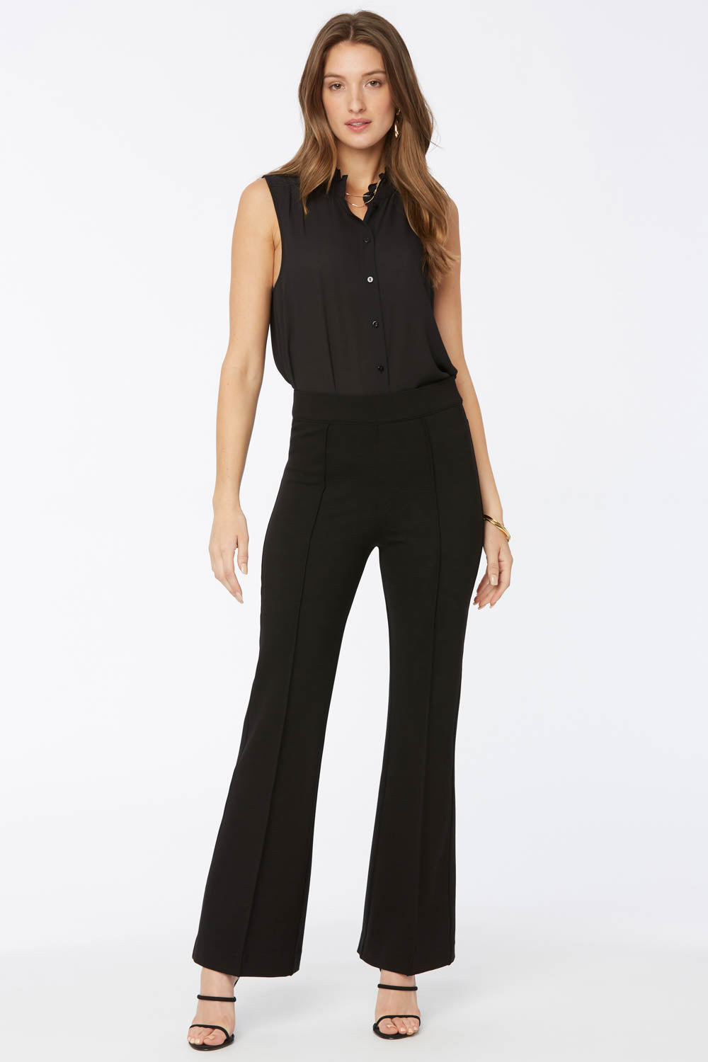 Pull-On Flared Pants - Jet Black