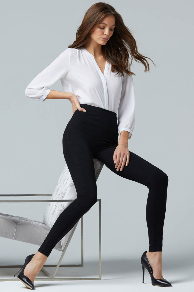 Pull-On Skinny Legging Pants - Jet Black