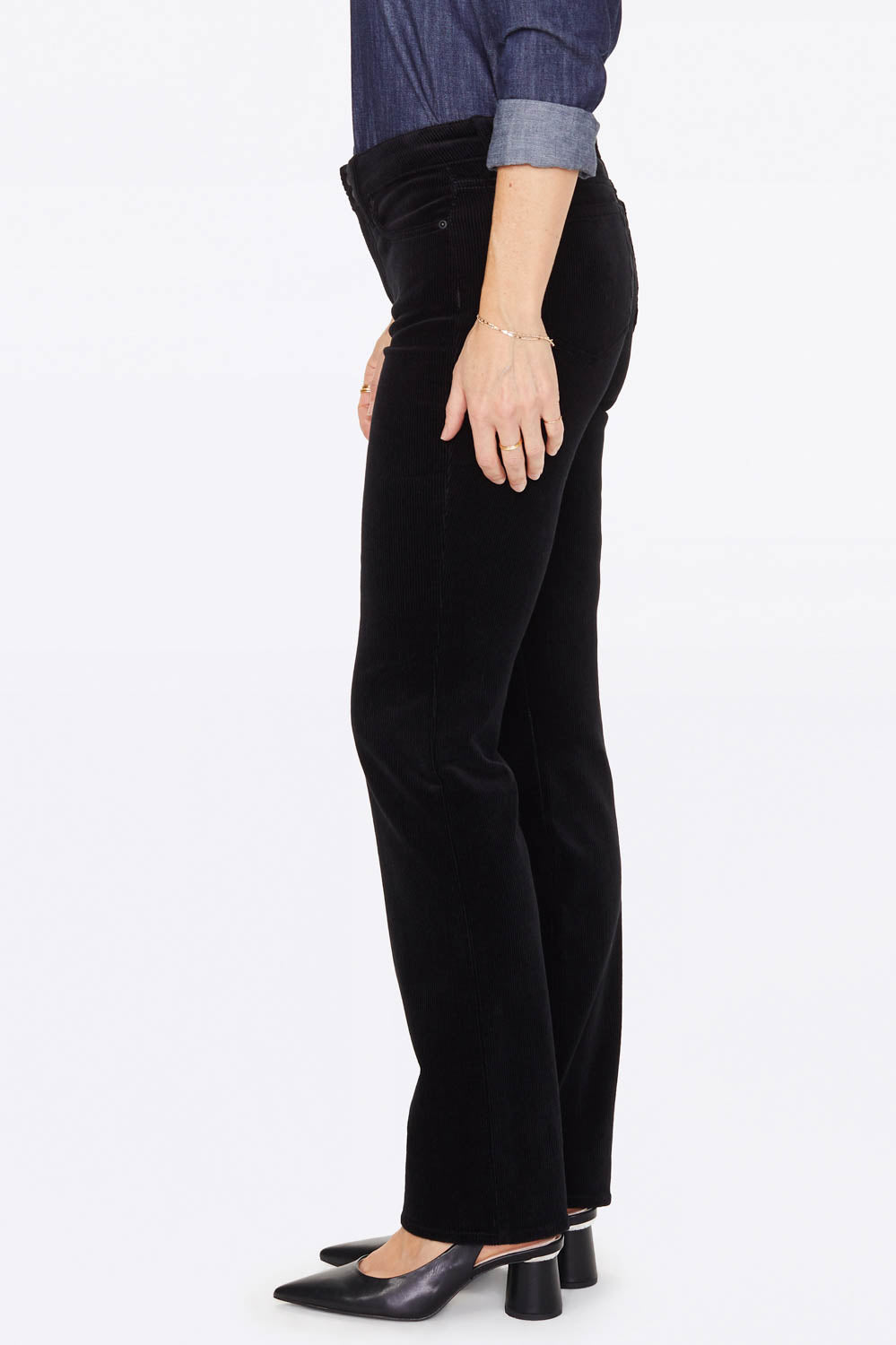 Marilyn Straight Pants - BLACK