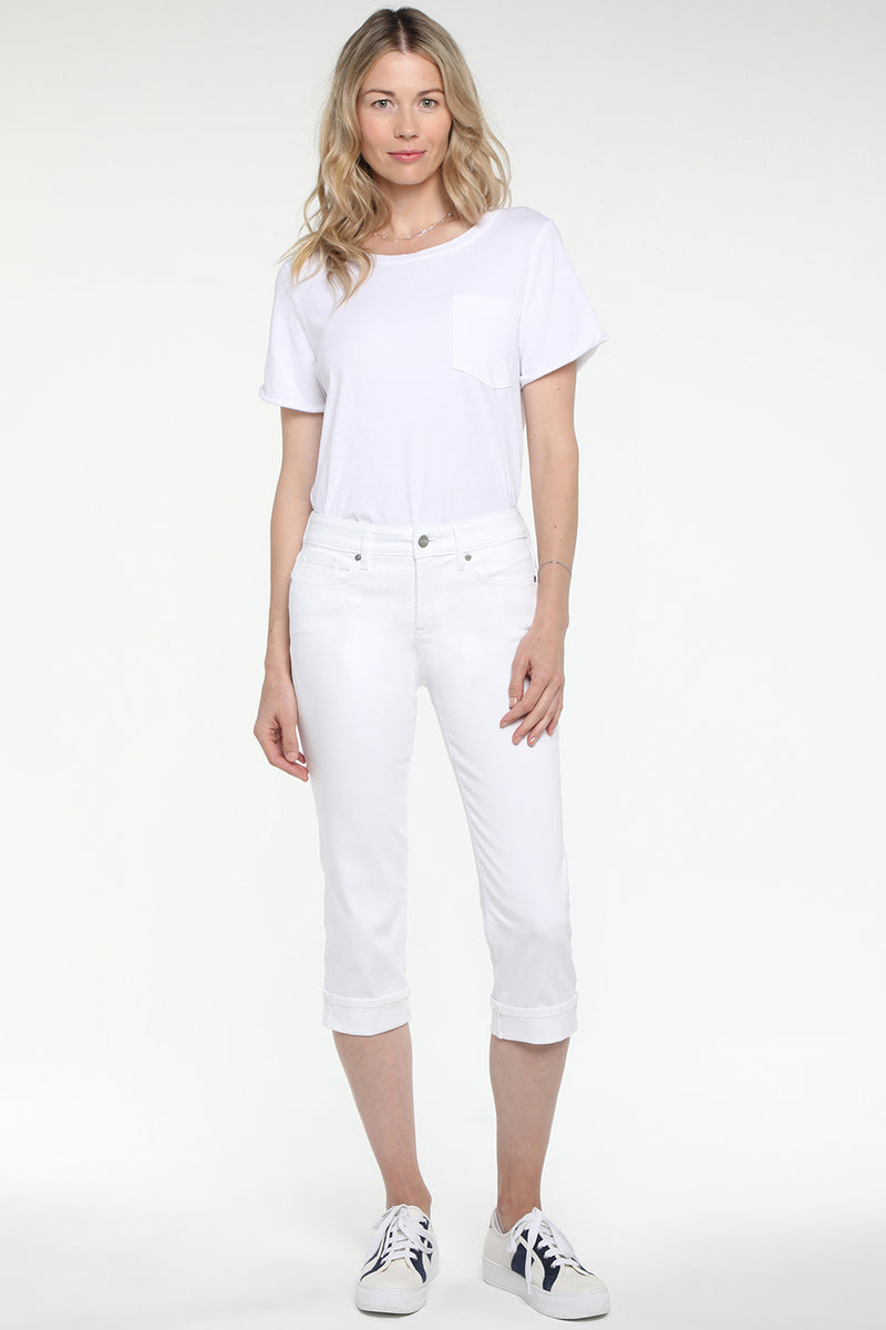 Marilyn Straight Crop Jeans - OPTIC WHITE