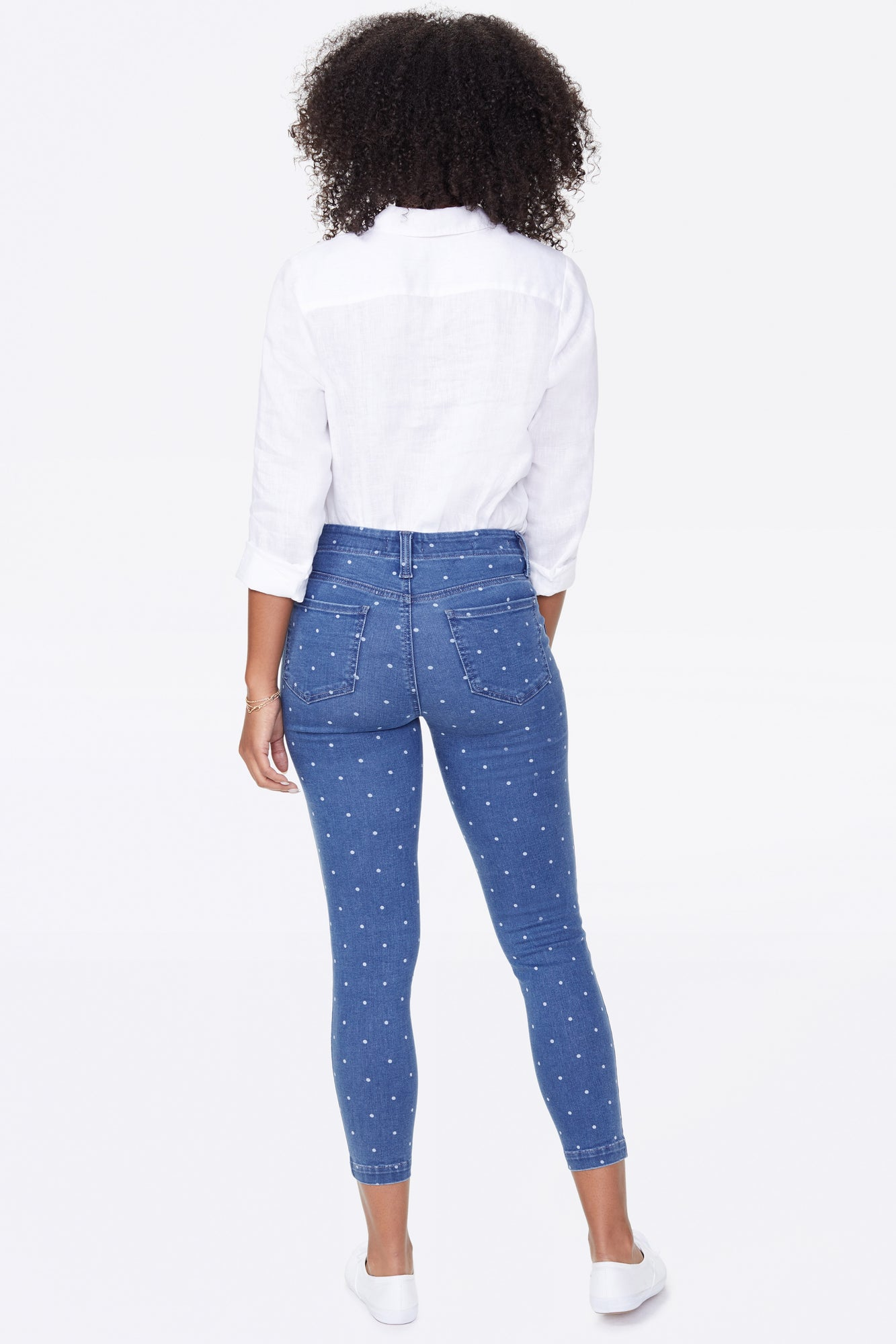 Ami Skinny Ankle Jeans - BEACHSIDE POLKA DOT