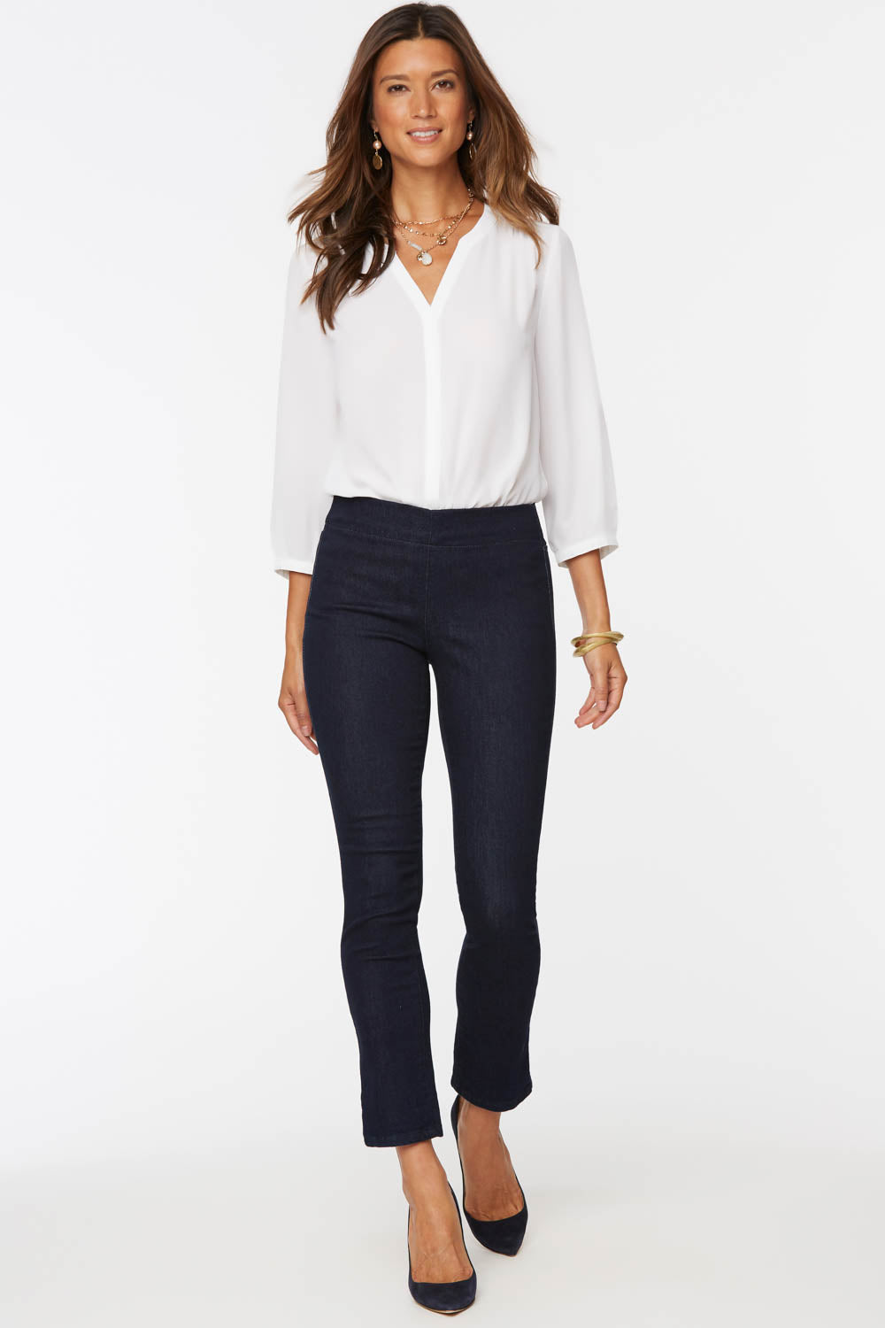 Alina Skinny Ankle Pull-On Jeans - RINSE