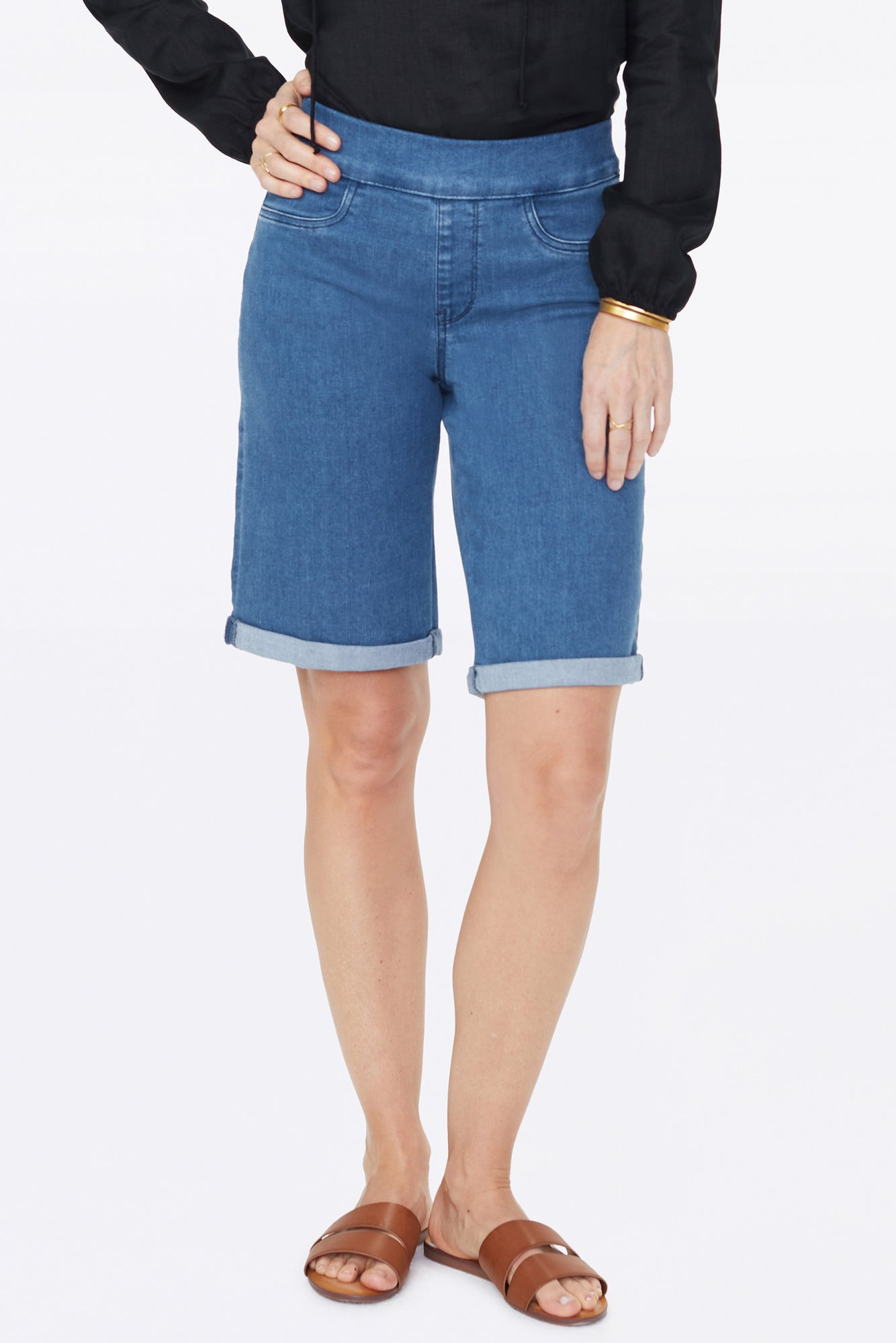 11 Inch Pull-On Jean Shorts - PERALTA