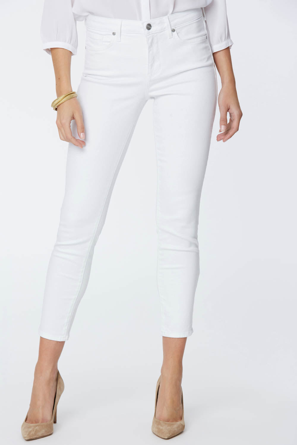 Alina Skinny Ankle Jeans - OPTIC WHITE
