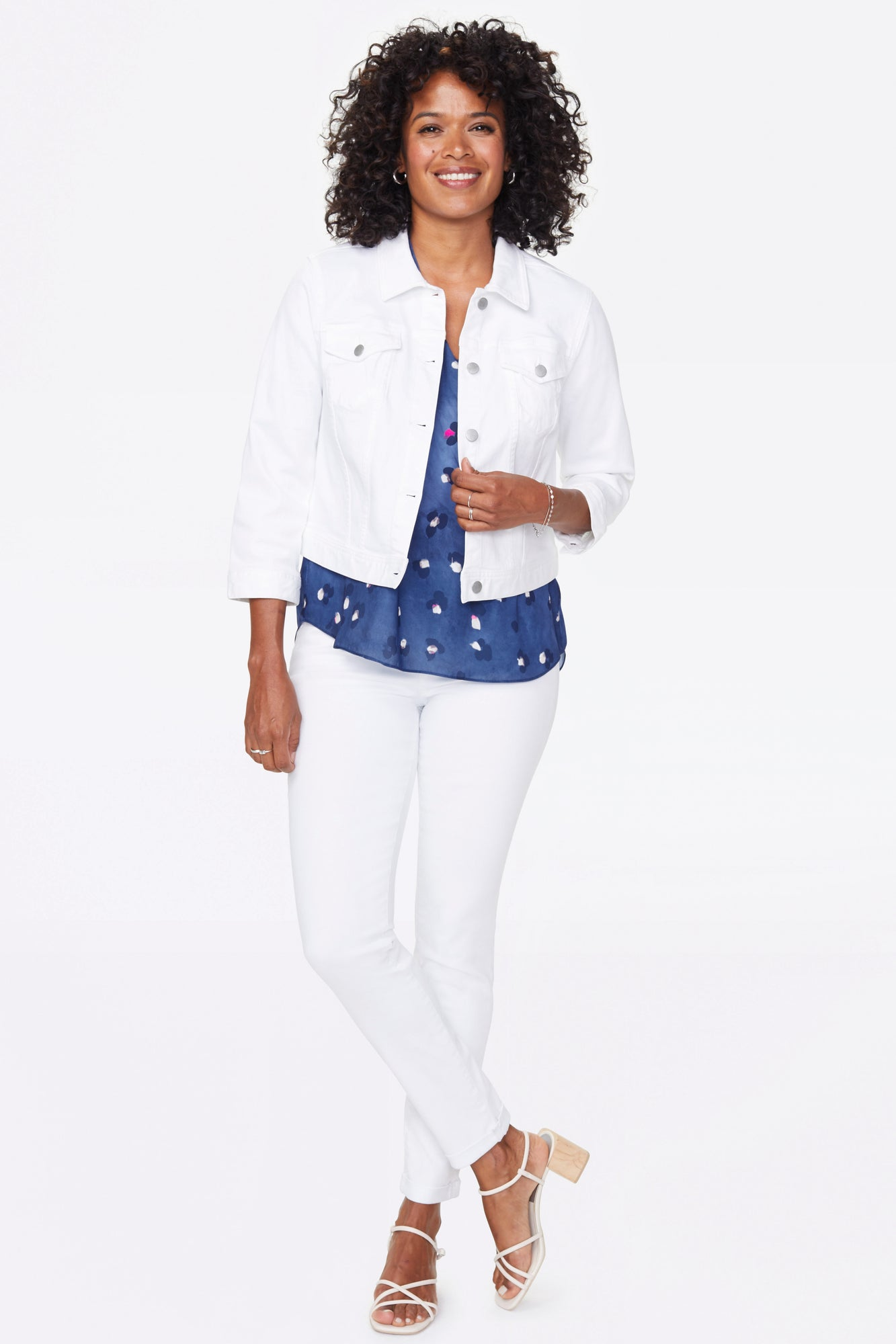 Slim Trucker Jean Jacket - OPTIC WHITE