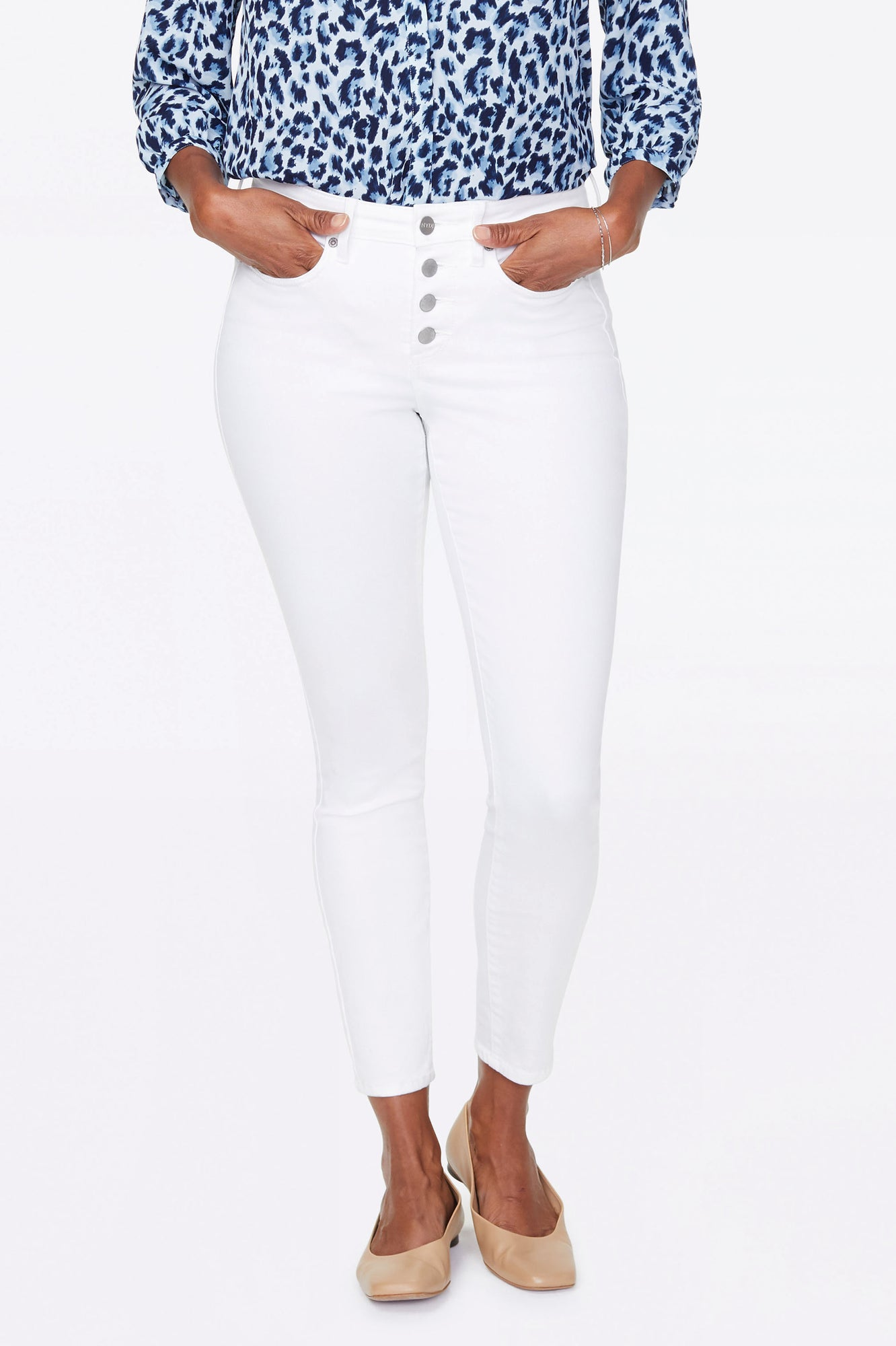 Ami Skinny Ankle Jeans - OPTIC WHITE