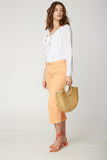 Wide Leg Capri Jeans - ORANGE CREAMSICLE