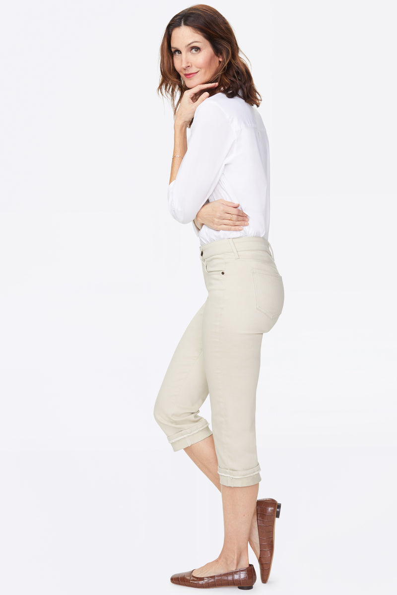 Marilyn Straight Crop Jeans - FEATHER