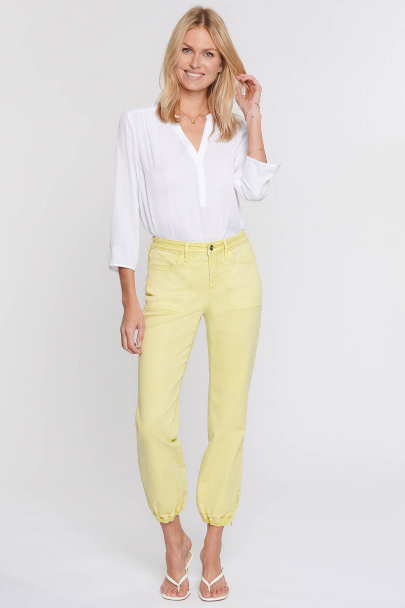 Jogger Ankle Jeans - Chartreuse