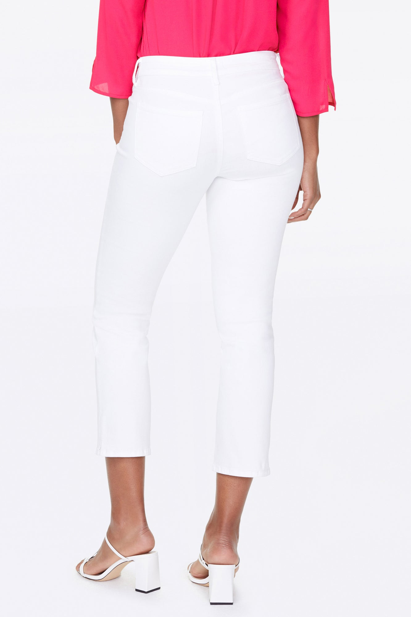 Marilyn Straight Ankle Jeans - OPTIC WHITE