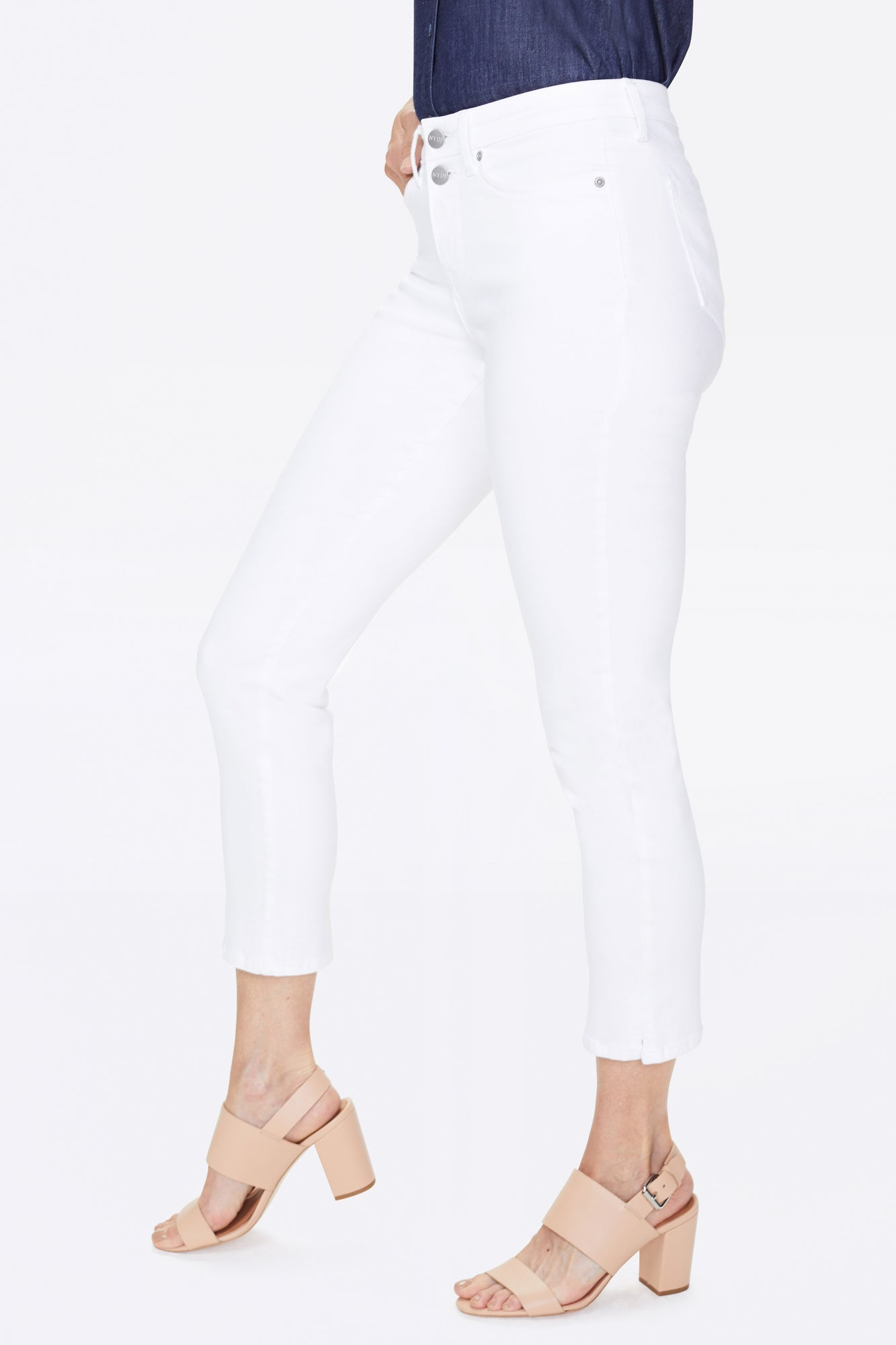 Sheri Slim Ankle Jeans - OPTIC WHITE