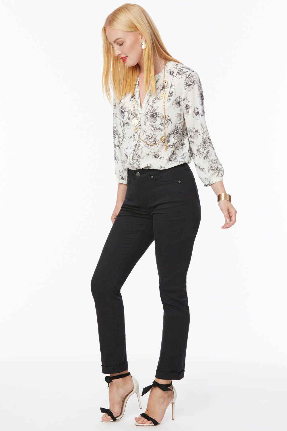 Sheri Slim Ankle Jeans - BLACK