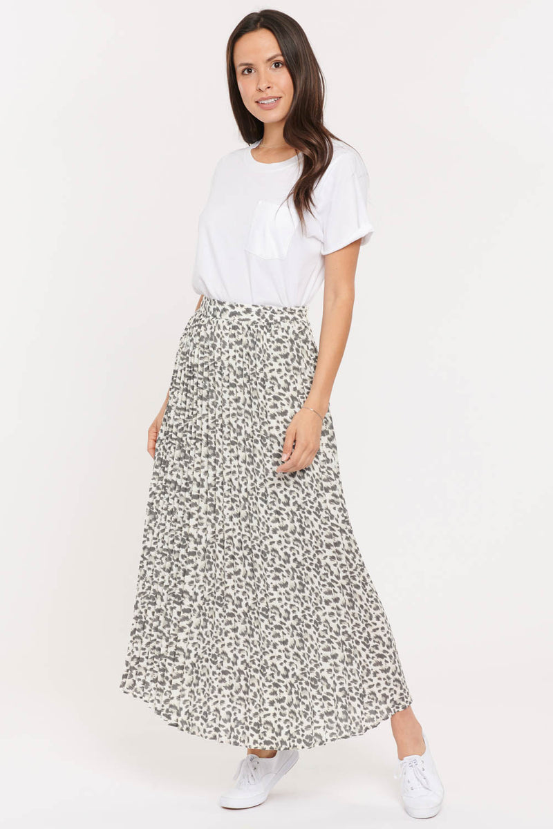 L'essence Pleated Skirt - Stone Cat
