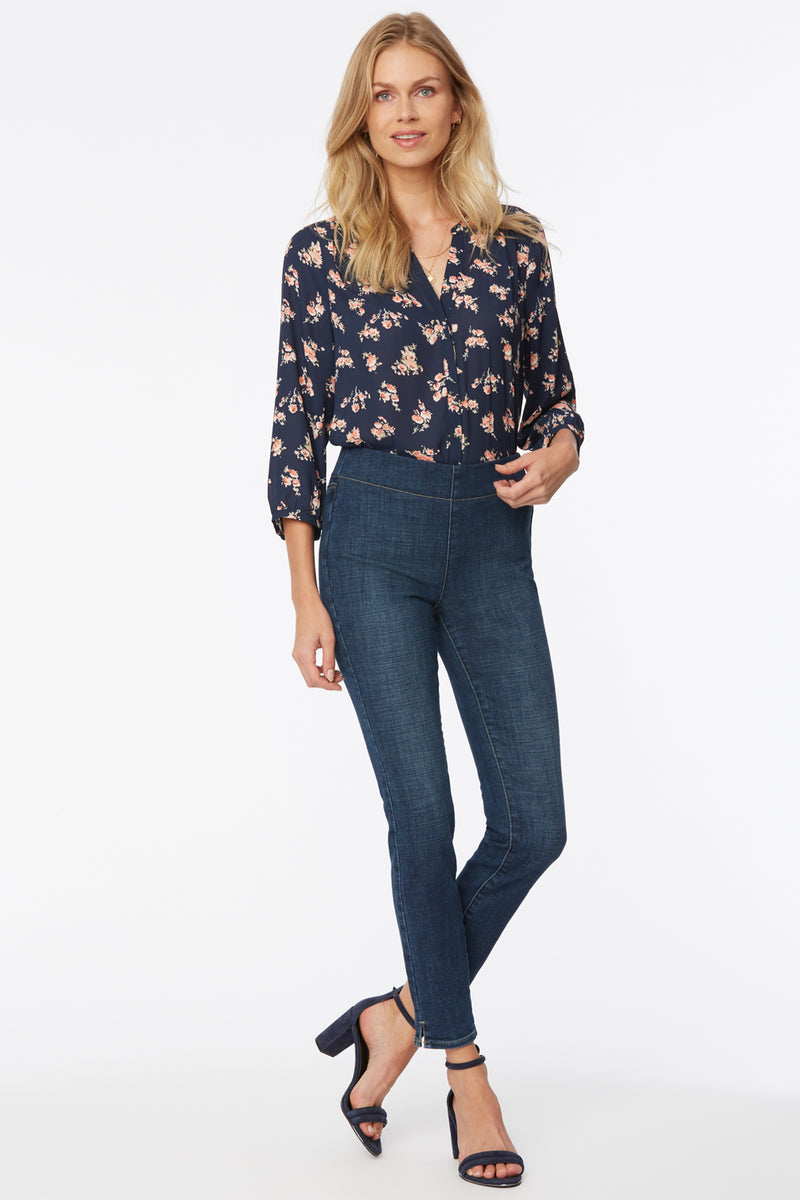 Skinny Ankle Pull-On Jeans - Clean Marcel
