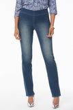 Marilyn Straight Pull-On Jeans - CLEAN ENCHANTMENT