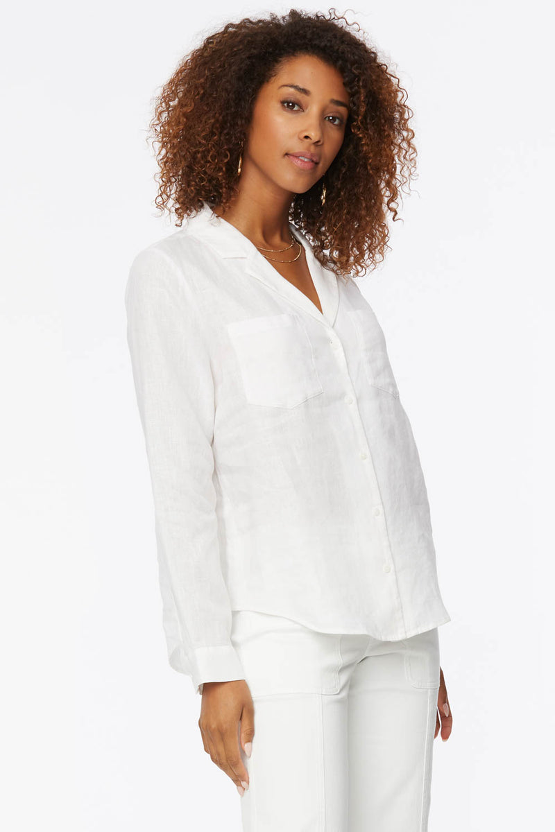 Linen Blouse - Optic White