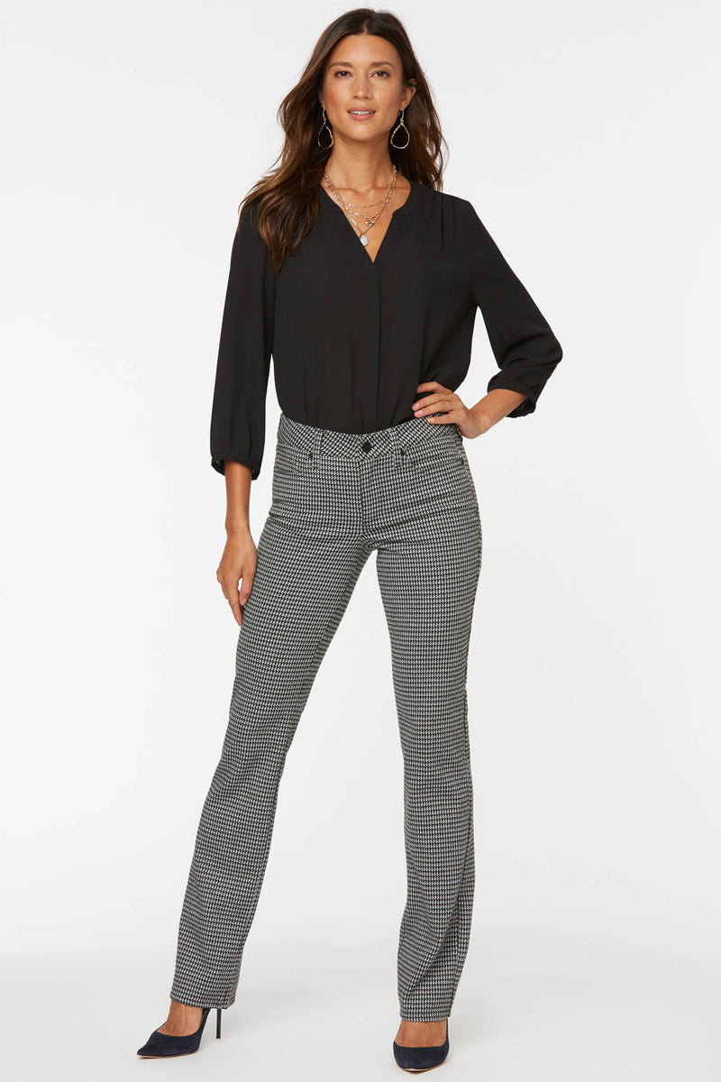 Marilyn Straight Pants - JEFFERSON HOUNDSTOOTH