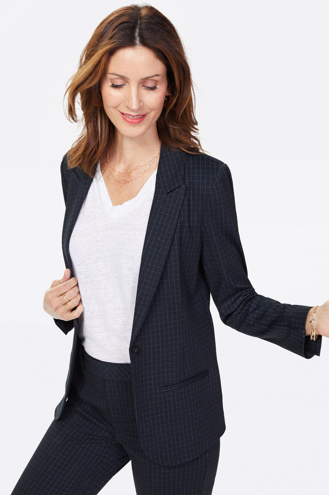 Blazer Jacket - FINE WINDOWPANE