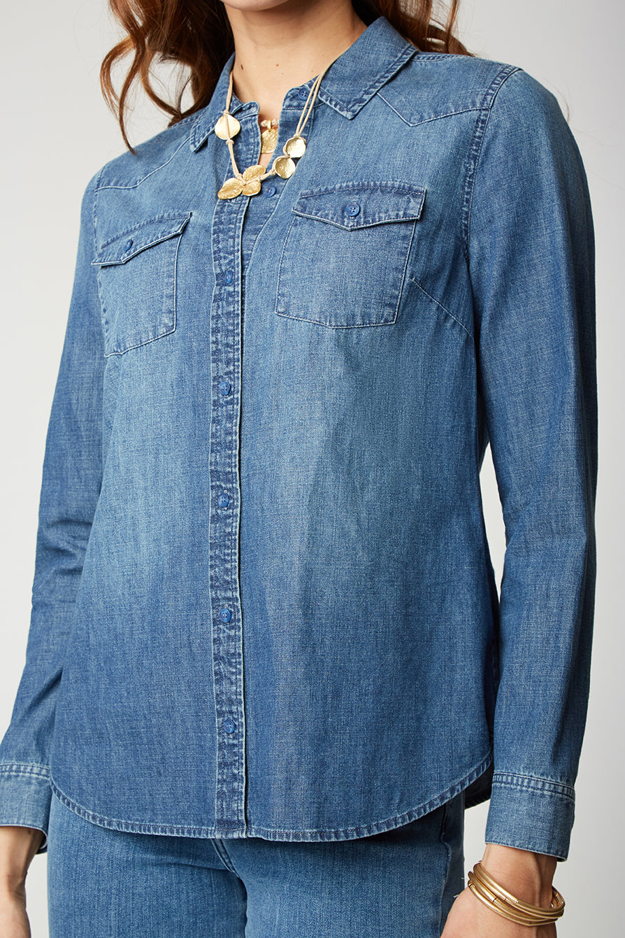 Midtown Shirt - BAY BLUE WASH