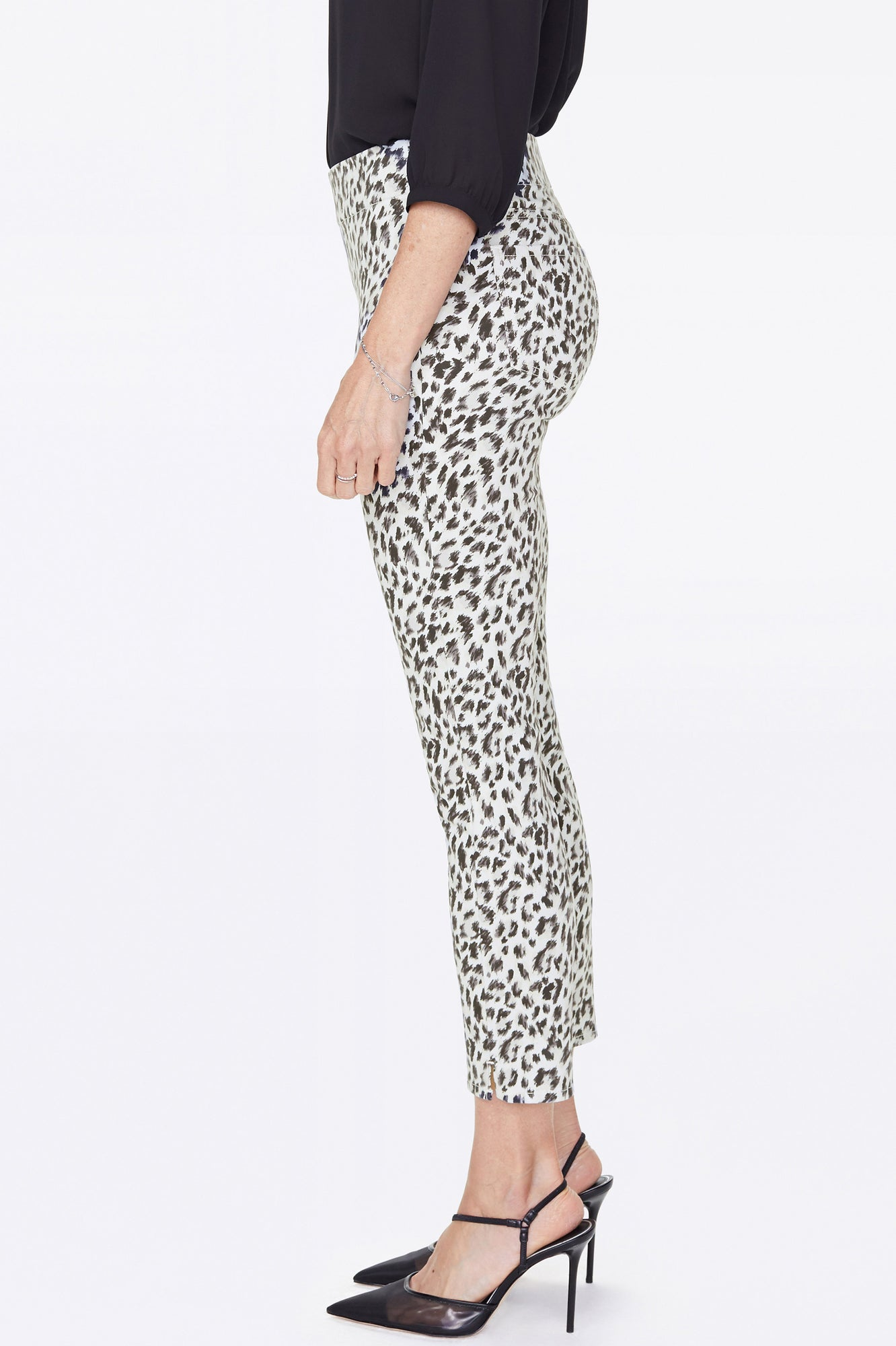 Skinny Ankle Pull-On Pants - CANYON CAT VANILLA
